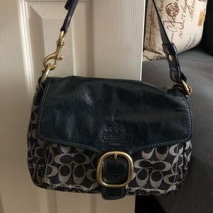 COACH satchel style purse with wallet